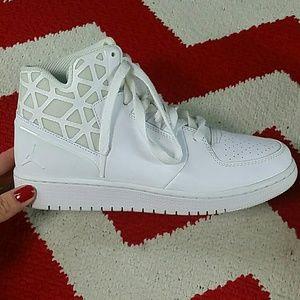 Nike Air Jordan 1 Flight 3 BG Shoes White Boys 5.5